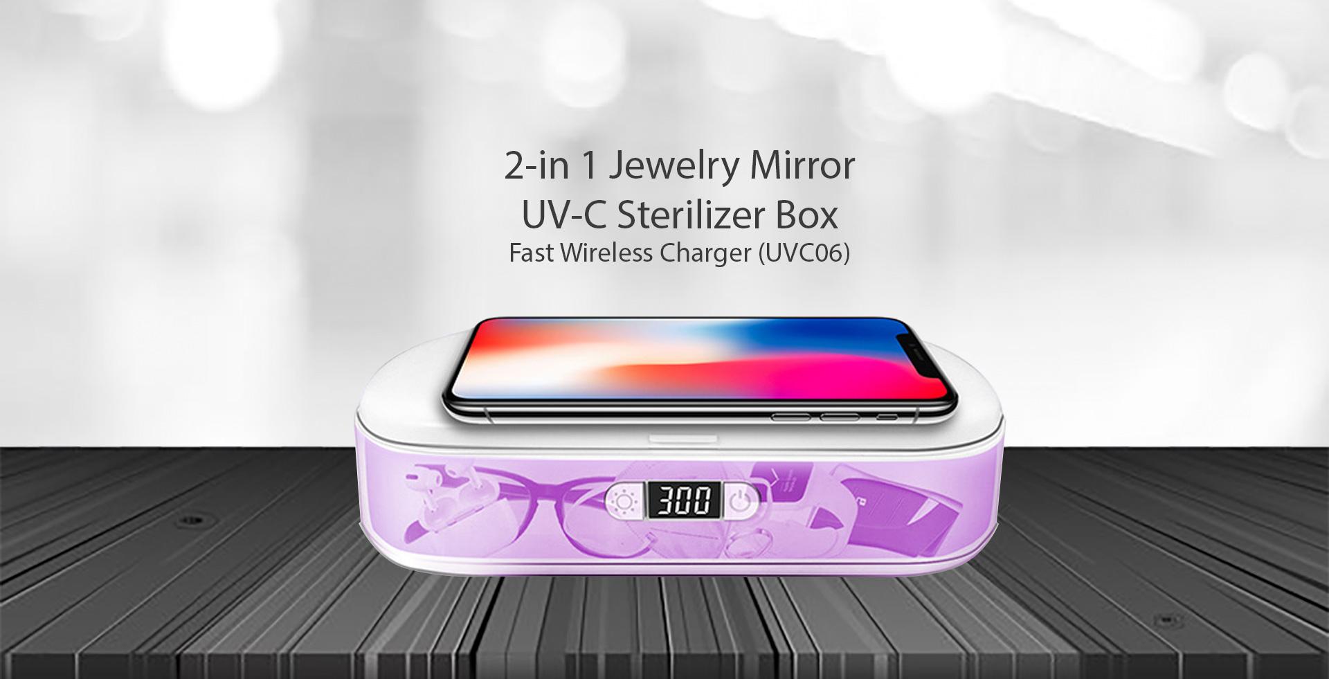 Jewelry box UVC sterilizer box