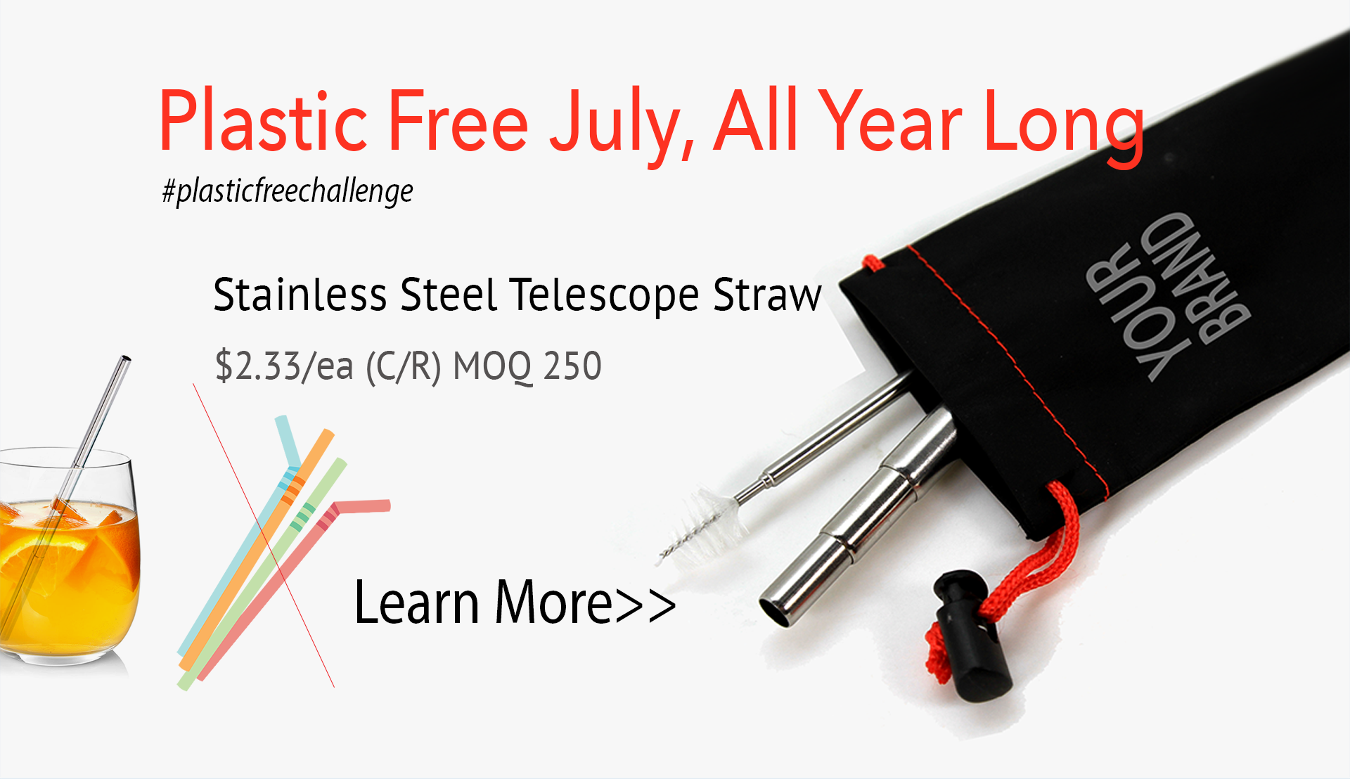 Stainless Steel Reusable Straw Campaign