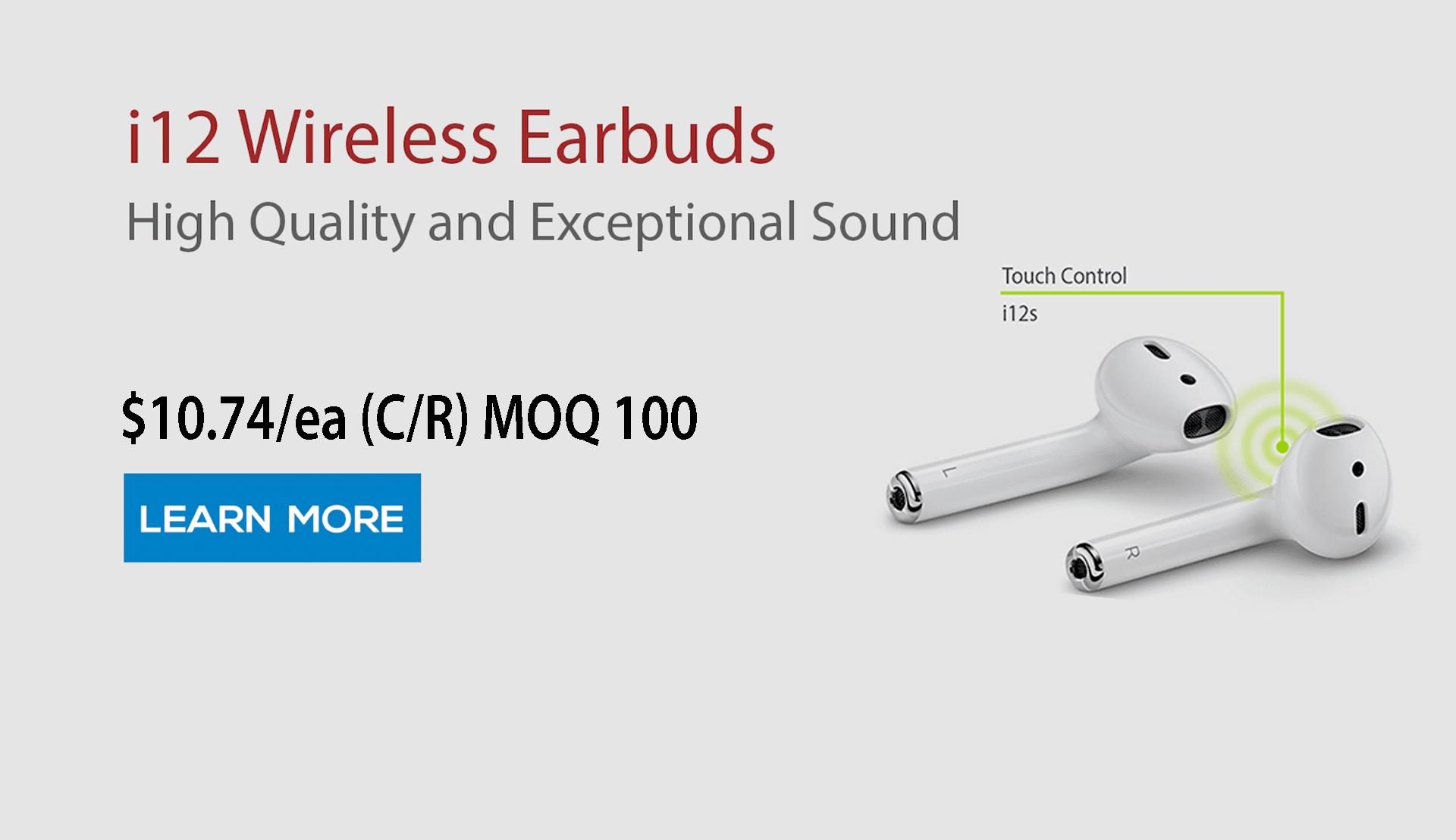 i12 Wireless Bluetooth Earbud