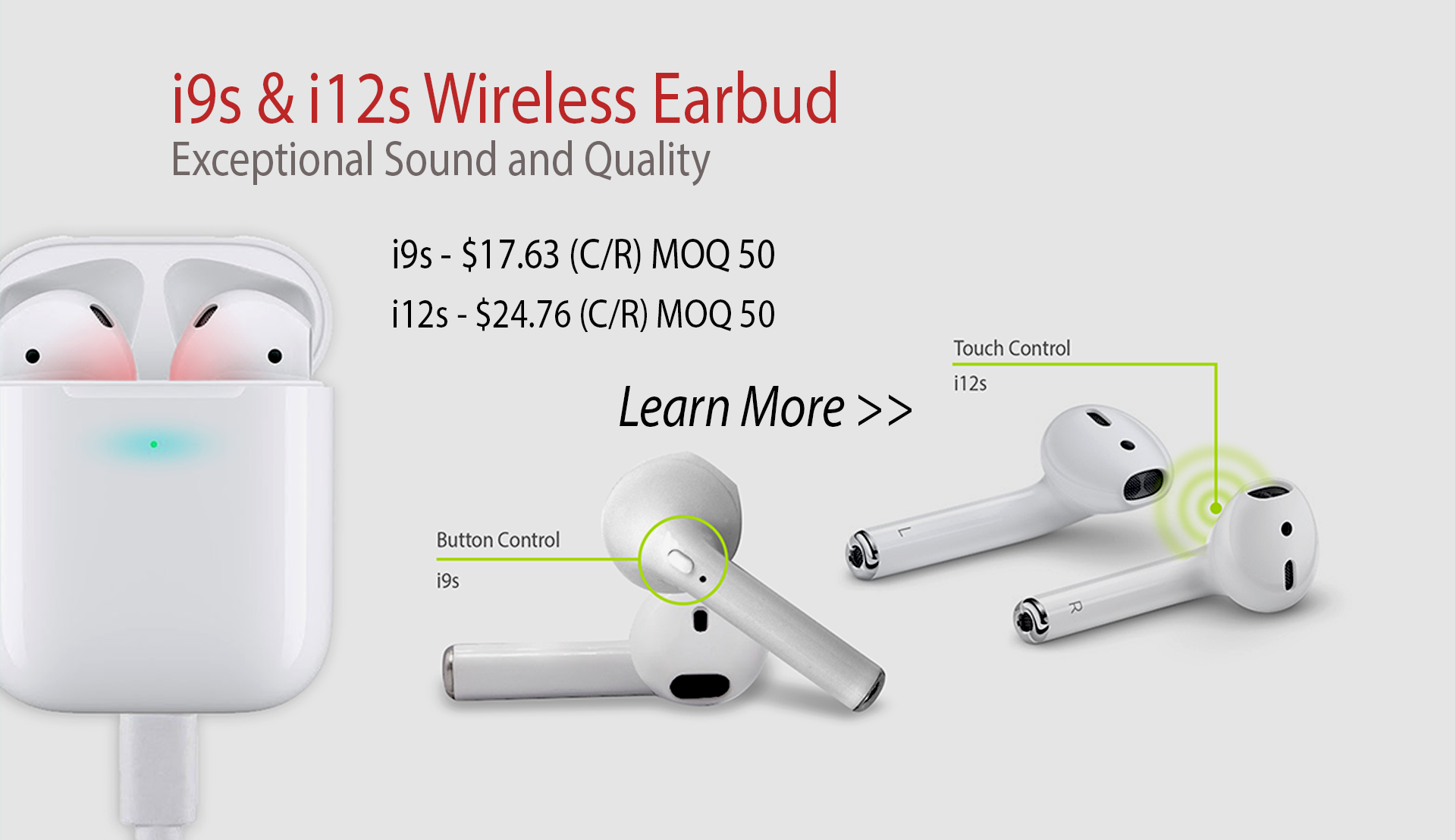 i9s and i12s Wireless Earbud