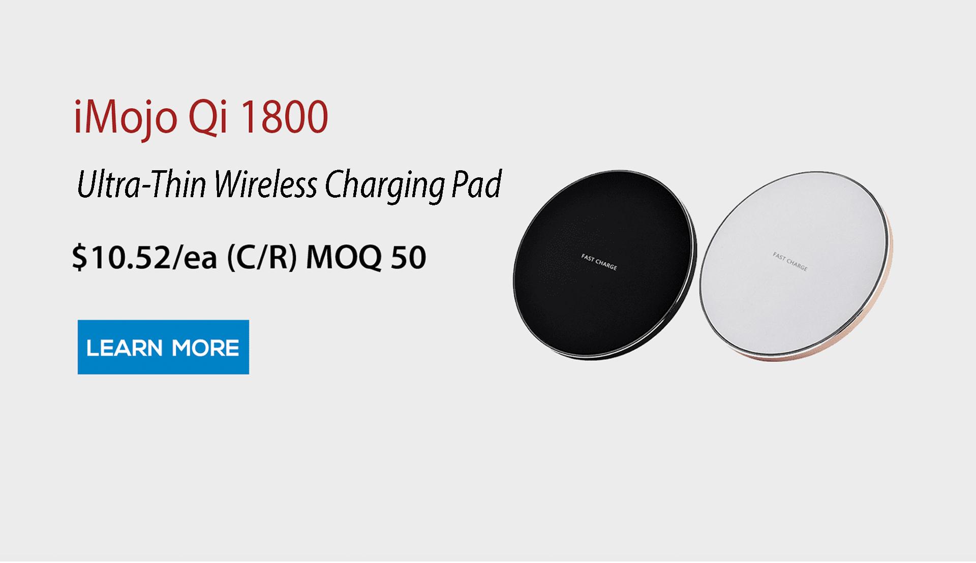 iMojo Qi 1800 Fast Wireless Charging Pad